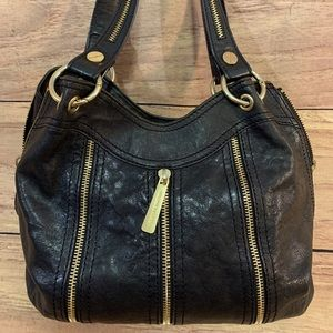 Michael KORS multi zipper hobo bag handbag satchel